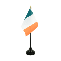 Mini drapeau de table Irlande 10 x 15 cm