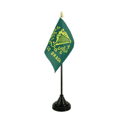 Mini drapeau de table Irlande Erin Go Bragh - 10 x 15 cm