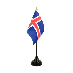 Mini drapeau de table Islande 10 x 15 cm