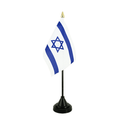 Mini drapeau de table Israel 10 x 15 cm