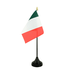 Italie Mini drapeau de table 10 x 15 cm