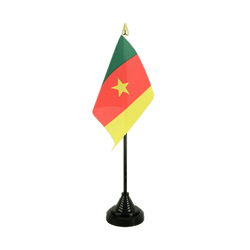 Mini drapeau de table Cameroun - 10 x 15 cm