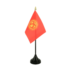 Kyrgyzstan Table Flag 4x6""