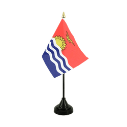 Kiribati Table Flag 4x6""