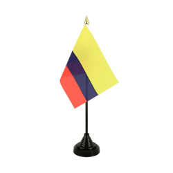 Colombia Table Flag 4x6""