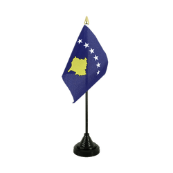Kosovo Table Flag 4x6""