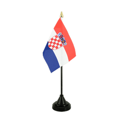 Mini drapeau de table Croatie 10 x 15 cm