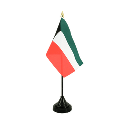 Kuwait Table Flag 4x6""