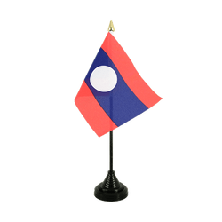Mini drapeau de table Laos - 10 x 15 cm