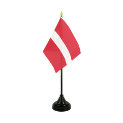 Latvia - Table Flag 4x6""
