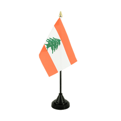 Mini drapeau de table Liban - 10 x 15 cm