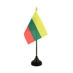 Lithuania - Table Flag 4x6""