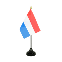 Mini drapeau de table Luxembourg - 10 x 15 cm