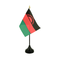 Malawi Mini drapeau de table 10 x 15 cm