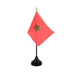 Morocco Table Flag 4x6""