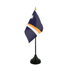 Marshall Islands - Table Flag 4x6""