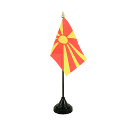Macedonia Table Flag 4x6""