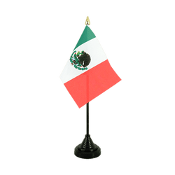 Mexico Table Flag 4x6""