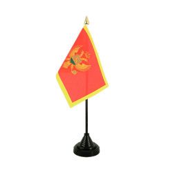 Montenegro Table Flag 4x6""