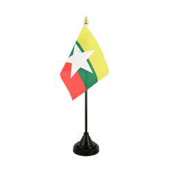 Myanmar new Table Flag 4x6""