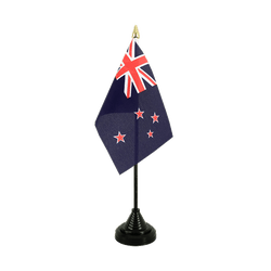 New Zealand - Table Flag 4x6""