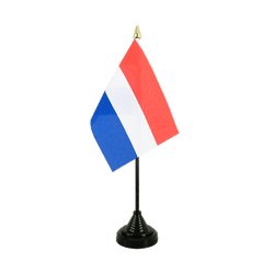 Pays-Bas Mini drapeau de table 10 x 15 cm