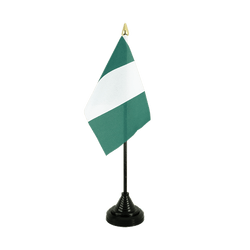 Mini drapeau de table Nigeria 10 x 15 cm