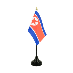 North corea Table Flag 4x6""