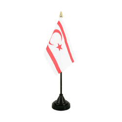 North Cyprus Table Flag 4x6""