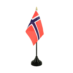 Norway Table Flag 4x6""