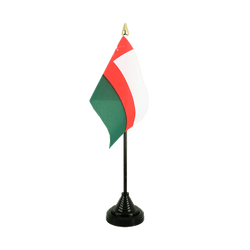 Oman Table Flag 4x6""