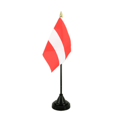Austria Table Flag 4x6""