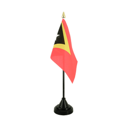 East Timor Table Flag 4x6""