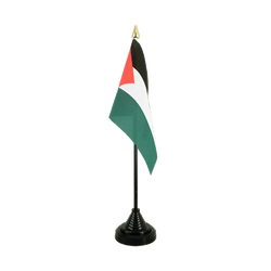 Mini drapeau de table Palestine 10 x 15 cm