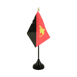 Papua New Guinea - Table Flag 4x6""