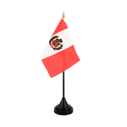 Peru Table Flag 4x6""