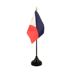 Mini drapeau de table Philippines - 10 x 15 cm