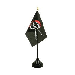 Pirate with bandana Table Flag 4x6""