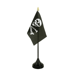 Pirate Skull and Bones Table Flag 4x6""