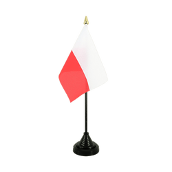Poland - Table Flag 4x6""