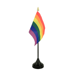 Rainbow - Table Flag 4x6""