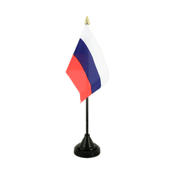 Russia Table Flag 4x6""
