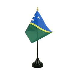 Solomon Islands - Table Flag 4x6""