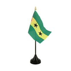 Mini drapeau de table Sao Tomé e Principé - 10 x 15 cm
