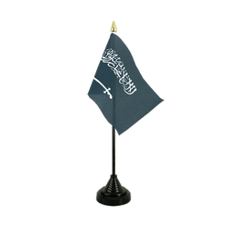 Saudi Arabia Table Flag 4x6""