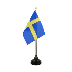 Sweden Table Flag 4x6""