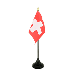 Mini drapeau de table Suisse - 10 x 15 cm