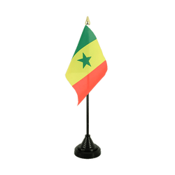 Mini drapeau de table Sénégal - 10 x 15 cm