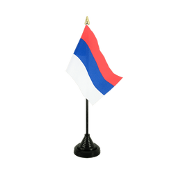 Serbia Table Flag 4x6""