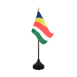 Mini drapeau de table Seychelles - 10 x 15 cm